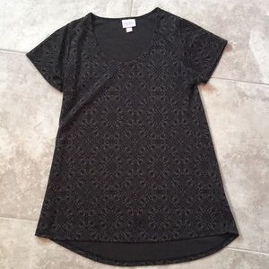 Lularoe t shirt in brown/black size xxs